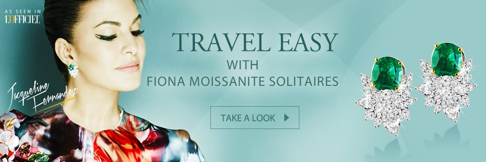 Travel Easy with Fiona Moissanite Solitaires